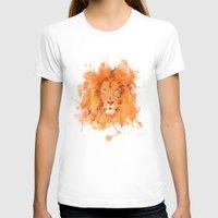 splatter T-shirts featuring Splatter Lion by Sarah Sutherland