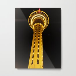 Auckland Sky Tower at night (New Zealand Collection) Metal Print