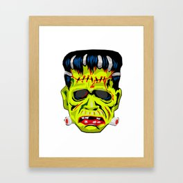 Frankenstein Vintage Mask Graphic Framed Art Print