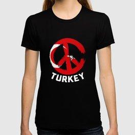 Turkey Peace Sign Tshirt T-shirt