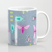 insects Mugs featuring Insects by Micaela Zahner Design