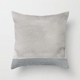 Grey watercolor Throw Pillow