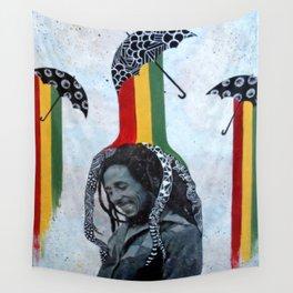 Rastafari Rain Wall Tapestry