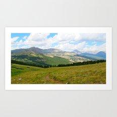Mountains of Colorado Art Print