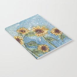 Watercolor Sunflowers,Watercolor Batik, Sunflower Art,Sunflower Flower Notebook