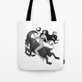 Inktober Witch Tote Bag