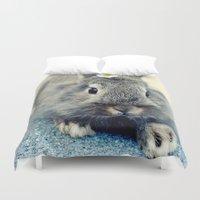 bunny Duvet Covers featuring Bunny by Falko Follert Art-FF77