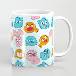 Gumball Faces Pattern Coffee Mug