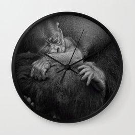 Newborn Baby Gorilla Wall Clock