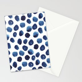 India - blue paint, ink spots, design, watercolor brush, dots, cell phone case Stationery Cards