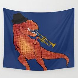 T-Rex Trumpet Wall Tapestry