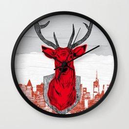 Chasse urbaine Wall Clock