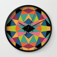 kaleidoscope Wall Clocks featuring Kaleidoscope by Andy Westface