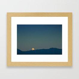 Blue Sky Moon, 2011 Framed Art Print