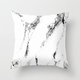white marble no. 1 Throw Pillow