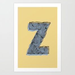 """Z"" Doodle  Art Print"
