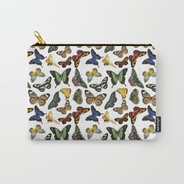 Vintage Butterflies | Butterfly Pattern | Multi-colored | Carry-All Pouch