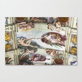 The Creation of Adam Canvas Print
