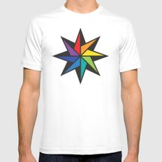 Geometric star #2 - to wear Mens Fitted Tee MEDIUM White