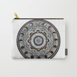 Moon Phase Mandala Carry-All Pouch