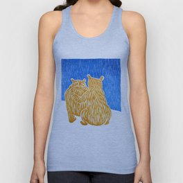 Friendship and Comfort: Brown Bears Unisex Tank Top
