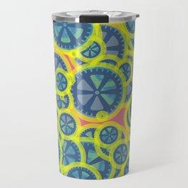Random blue gearwheels Travel Mug
