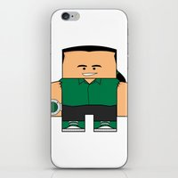 power rangers iPhone & iPod Skins featuring Mighty Morphin Power Rangers - Tommy (The Original Green Ranger) by Choo Koon Designs