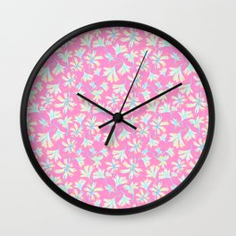 Fine floral layers Pink Wall Clock