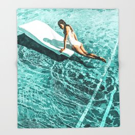 Pool Day #society6 #painting #summer Throw Blanket
