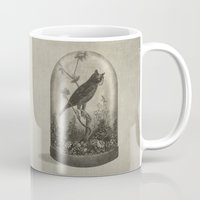 technology Mugs featuring The Curiosity  by Terry Fan