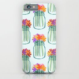 Mason Jar Floral iPhone Case