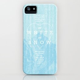 as white as snow iPhone Case