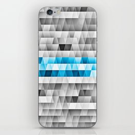Blue Stripe Geometric Pattern iPhone Skin