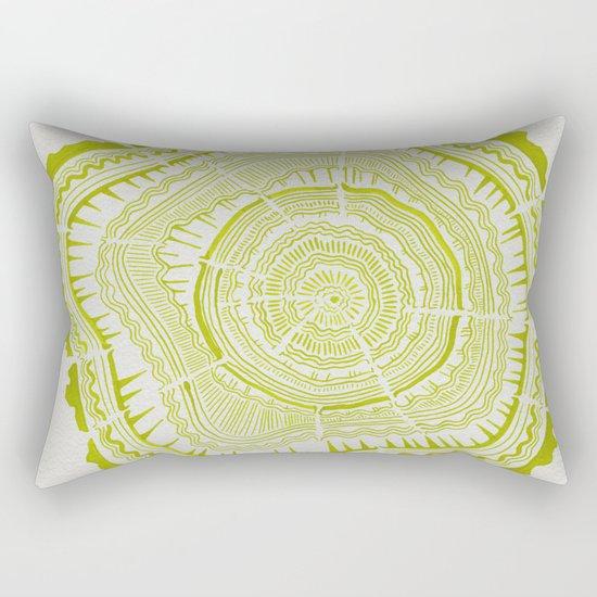 Lime Tree Rings Rectangular Pillow