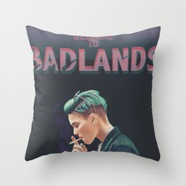 WELCOME TO BADLANDS Throw Pillow