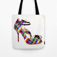 plaid Tote Bags featuring Plaid by Modern Swan