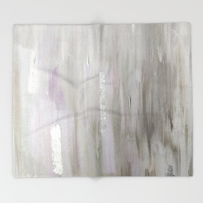 Lavender & Silver Throw Blanket