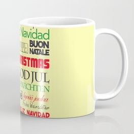 merry christmas in different languages I Coffee Mug