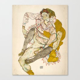 "Egon Schiele ""Seated Couple"" Canvas Print"