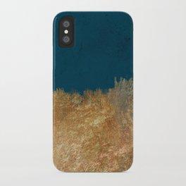Denim Gold Paint iPhone Case