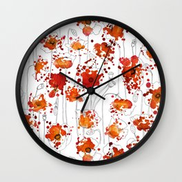 Puppy Ink Splatter Wall Clock