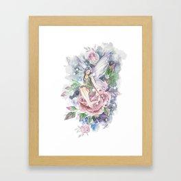 Floral Fairy Framed Art Print