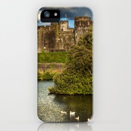 Caerphilly Castle Western Towers iPhone Case