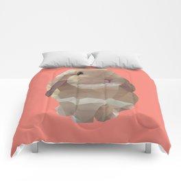 Peanut Bunny the Rabbit Polygon Art Comforters