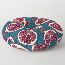 Pomegranate slices Floor Pillow