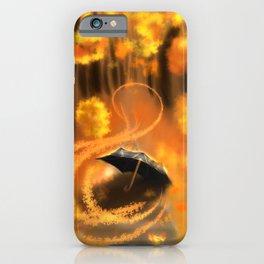 Autumn road | Umbrella iPhone Case