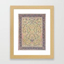 Douglass Mughal 'Millefleurs' North Indian Rug Print Framed Art Print