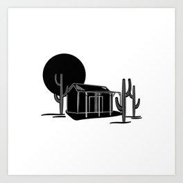 Desert hideout Art Print
