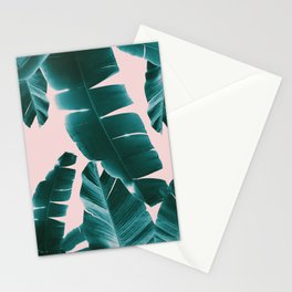 Banana Leaves Summer Vibes #1 #tropical #decor #art #society6 Stationery Cards