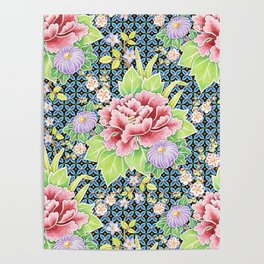 Kimono Bouquet Brocade Poster
